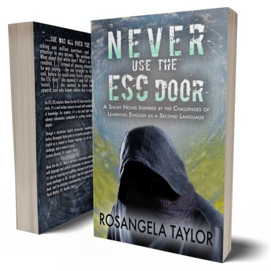 Image: ESL educational novel, Never Use the ESC Door by Rosangela Taylor